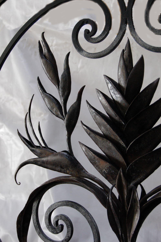 Ramillete con flor ave del paraiso